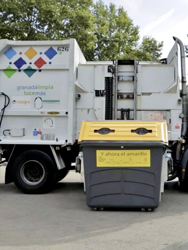 Granada 'sobresaliente' en residuos reciclados