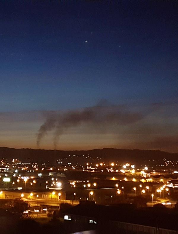 Asturias. Otra noche horrible de contaminación en Gijón en cuanto deja de llover