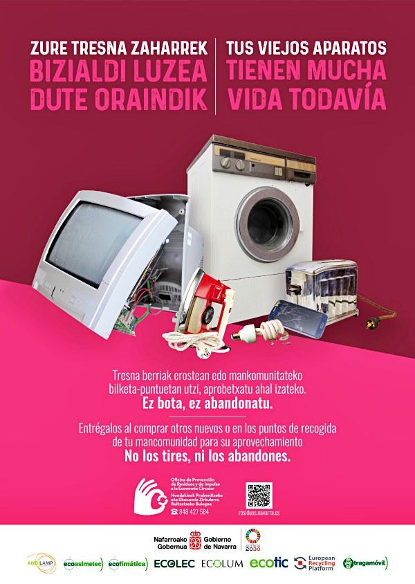 Navarra lanza una nueva campaña de recogida de residuos de aparatos eléctricos y electrónicos