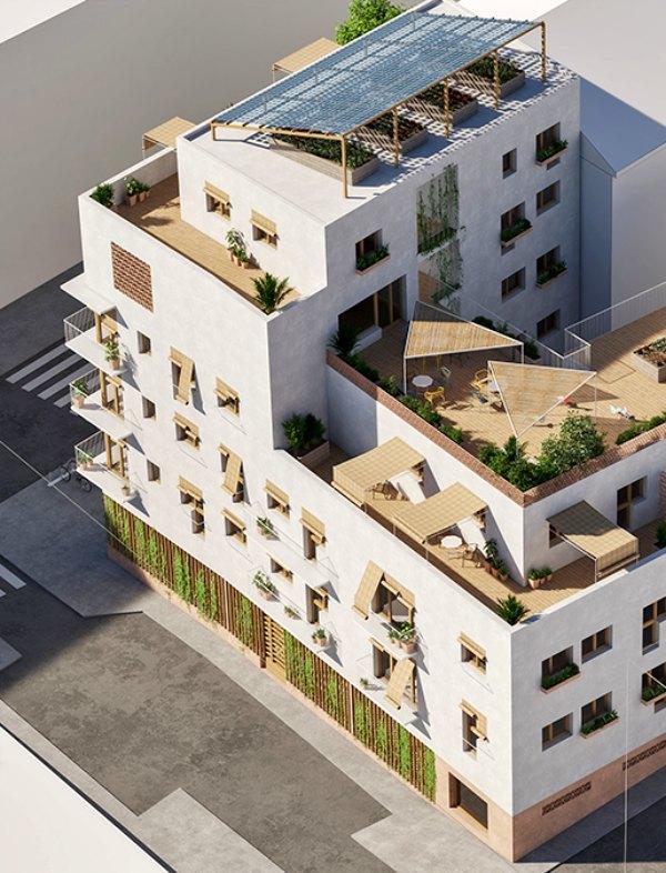 La primera promoción de 'Distrito Natural' de covivienda ecológica de Madrid logra el 80% de financiación a través de particulares