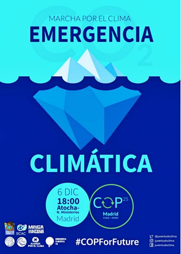 Movilización ecologista sin precedentes frente a la COP25 Chile - Madrid