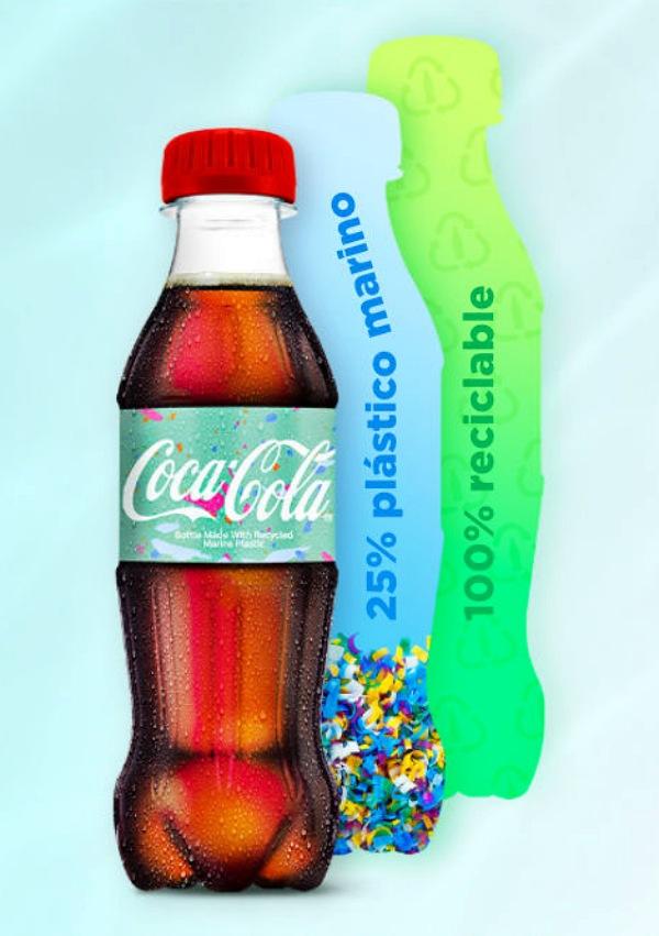 Coca-Cola se pone las pilas y lanza su primera botella de plástico reciclado de basura marina