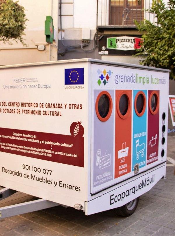 Granada. Ecoparque móvil para residuos en los barrios históricos