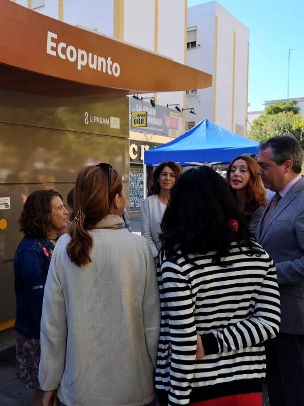 Implementados los ecopuntos de San Jerónimo y Huerta del Perejil en Sevilla