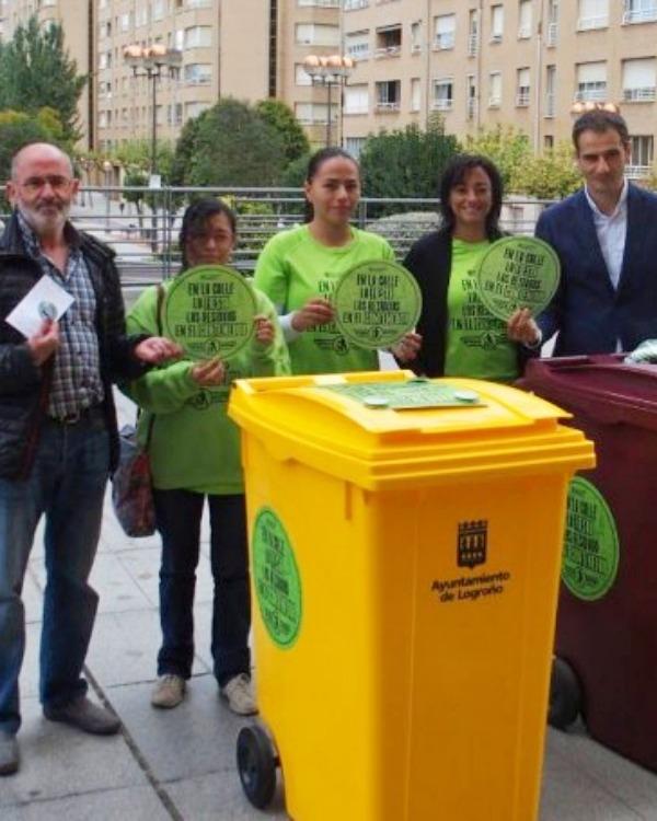 Logroño instalará más contenedores de reciclaje para las fiestas de San Mateo