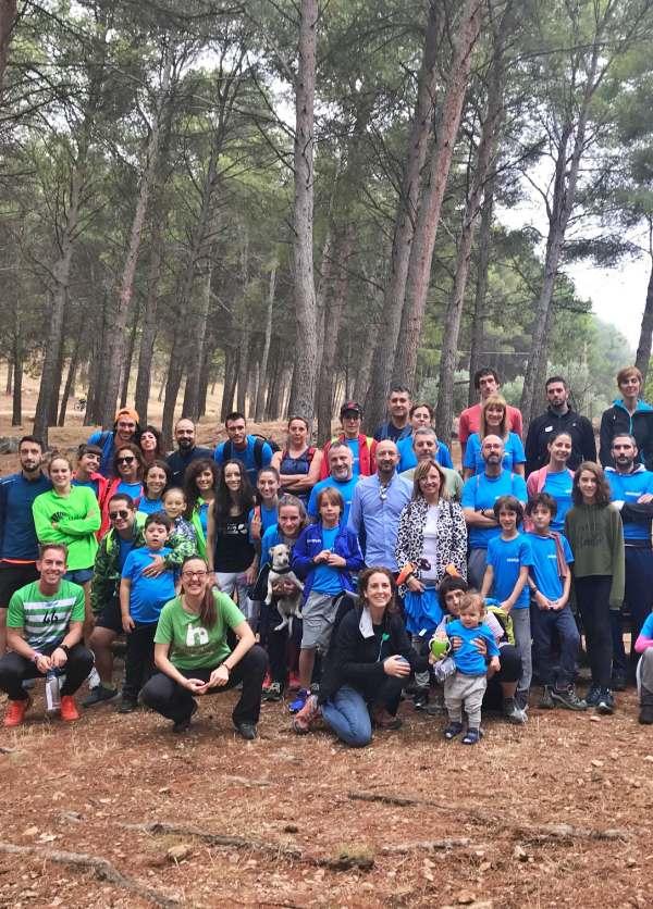 Recogida de residuos del parque de Santa Catalina y El Neveral de Jaén