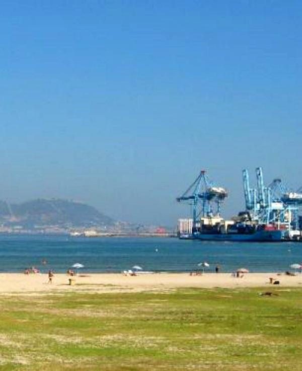 Urge recoger los residuos en la playa de La Concha del Campo de Gibraltar