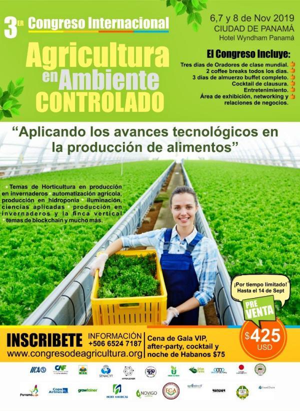 Panamá será sede de Congreso sobre Agricultura en Ambientes Protegidos