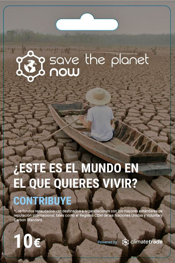 Nueva plataforma contra el cambio climático: 'SAVE THE PLANET NOW'