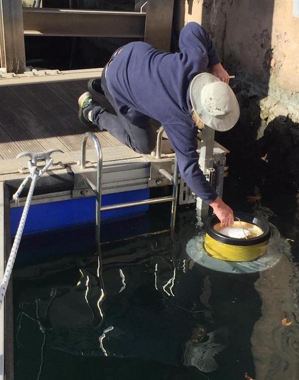 Baleares. Implementan tres papeleras marinas para la recogida de residuos contaminantes en el puerto de Ciutadella