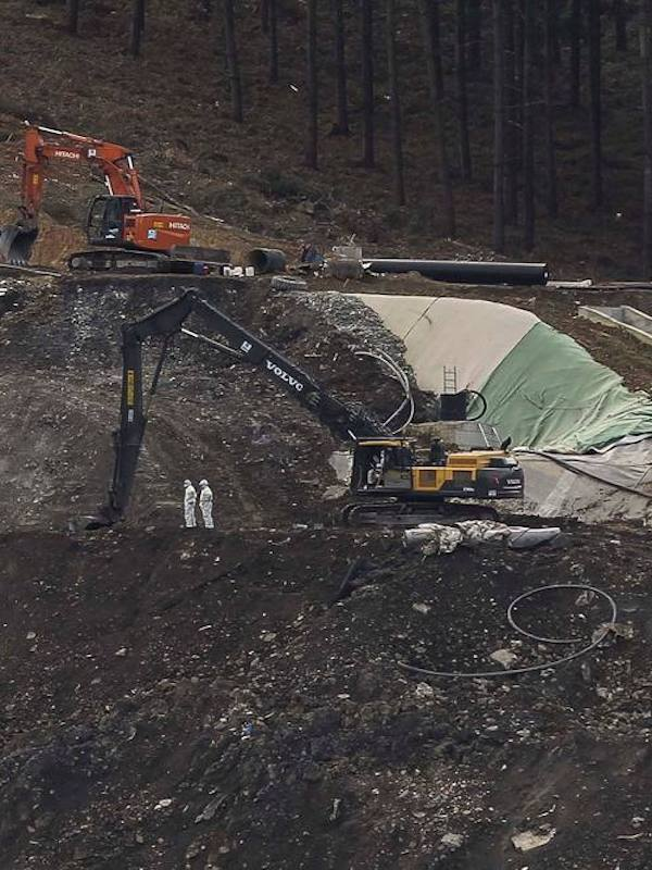 Gobierno Vasco construye una celda temporal junto al vertedero de Zaldibar y almacenará los residuos como