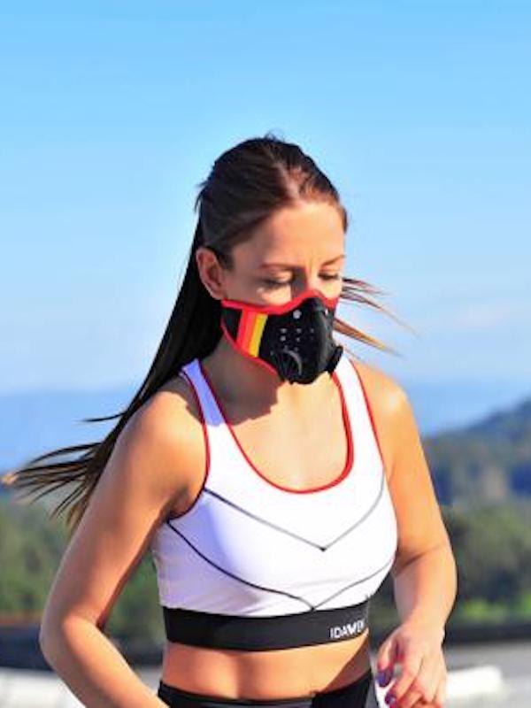 Idawen mejora su máscara reutilizable para deportistas