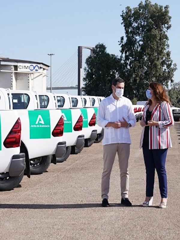 Andalucía cuenta con nueva flota de más de 100 vehículos híbridos y eléctricos para Medio Ambiente