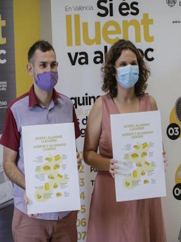 Los contenedores de Valencia permitirán reciclar aluminio y acero ligero