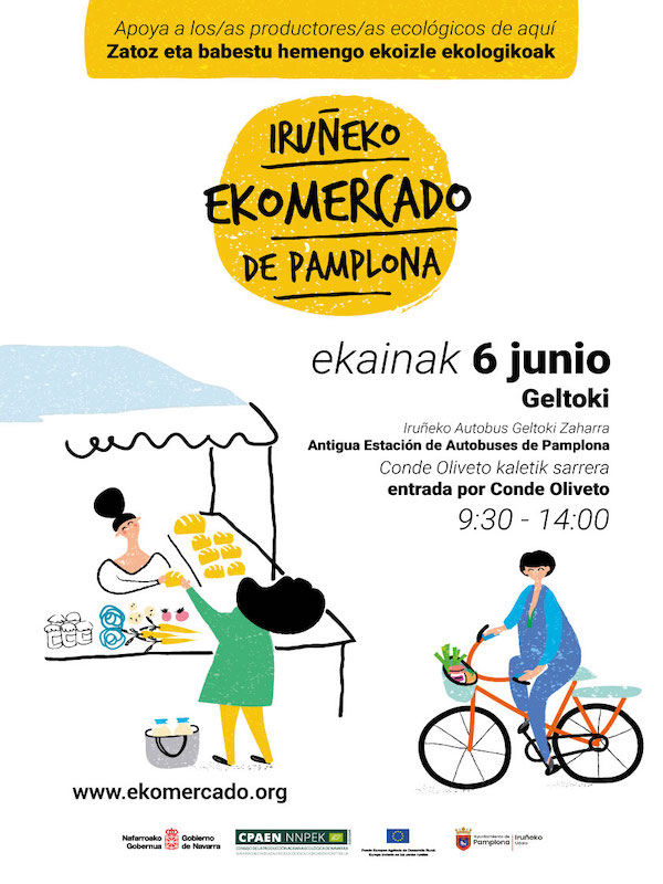 Navarra. El EKOmercado vuelve este sábado a Pamplona con 17 productores/as ecológicos