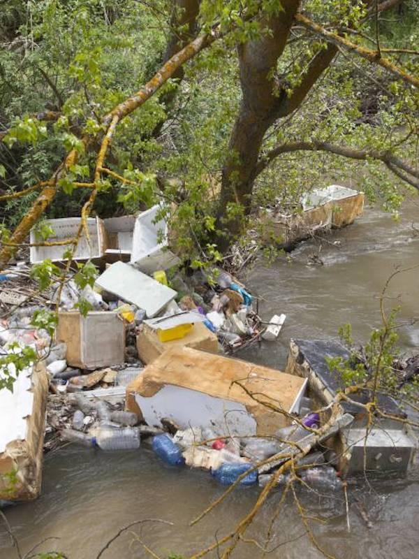 Basura y contaminación del río Guadarrama en Móstoles, Navalcarnero y Arroyomolinos