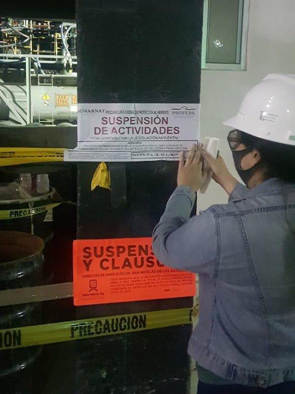 México. Clausura Profepa empresa en Nuevo León por mal manejo de sustancias químicas peligrosas
