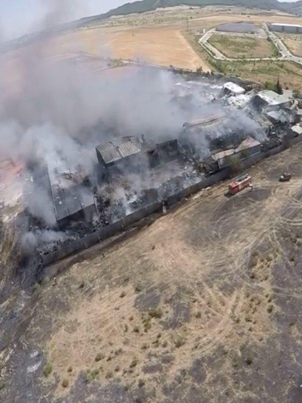 19 años de cárcel por el incendio en la planta de residuos de Chiloeches