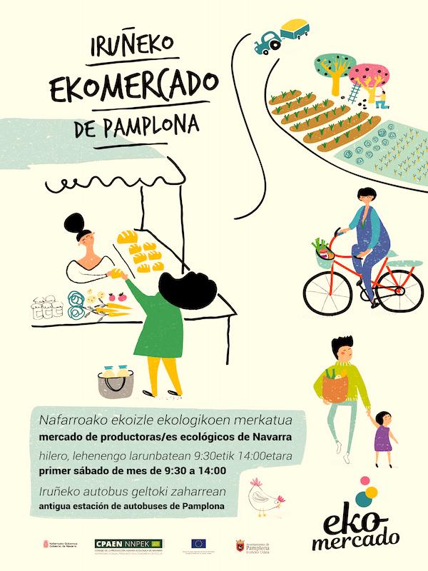 El EKOmercado vuelve a los andenes de la Antigua Estación de Autobuses de Pamplona