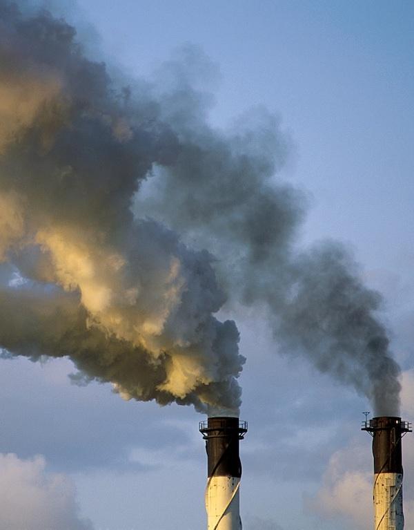 Ojito con la contaminación atmosférica de Europa
