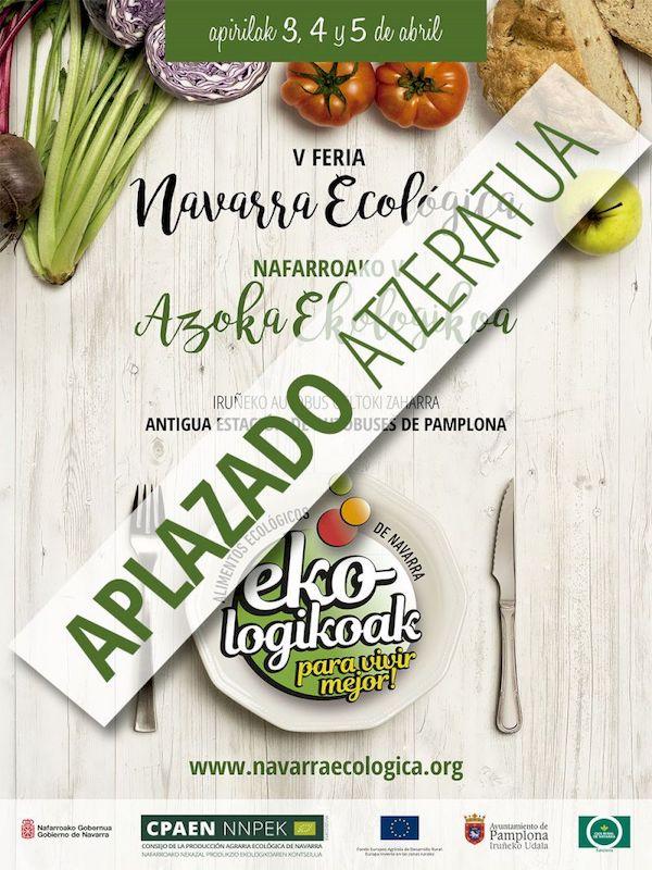 La Feria Navarra Ecológica se traslada al mes de septiembre por la crisis sanitaria