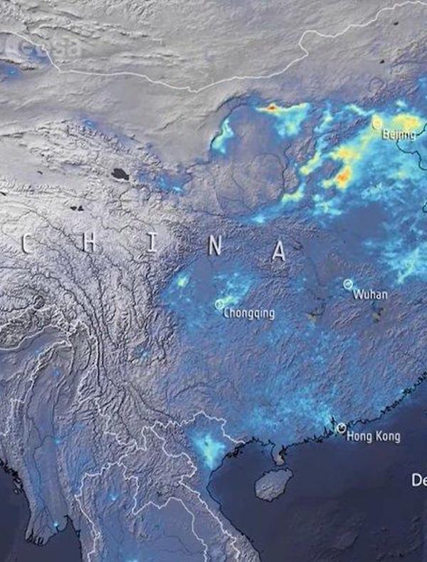 La contaminación en China bajo 'mínimos' por  el COVID-19