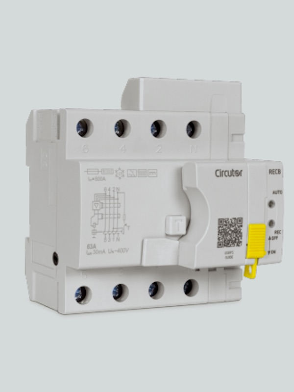 Renovables, coche eléctrico, etc. CIRCUTOR presenta sus Nuevos interruptores diferenciales autorrearmables REC