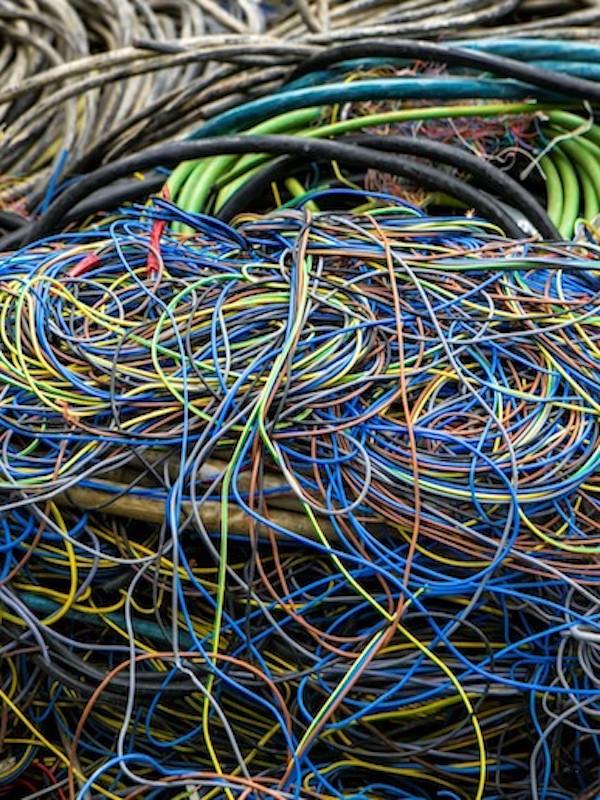 Plásticos de cables para fabricar yeso para la construcción