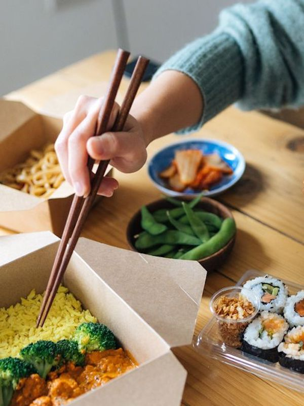 ¿Comida a domicilio saludable?
