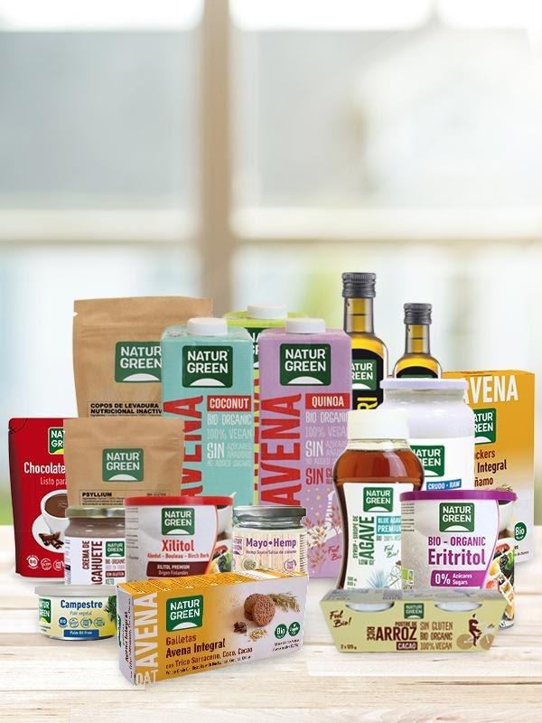 Alimentos ecológicos. NaturGreen 25 años cuidando de tu dieta saludable y sana