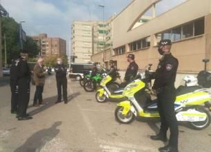Movilidad eléctrica. La Policía Local de Murcia estrena cuatro motocicletas eléctricas