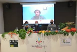 Tres ikastolas de Navarra introducen en los comedores escolares nuevos menús ecológicos