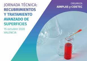 CIDETEC y AIMPLAS organizan la tercera edición de su jornada de recubrimientos en esta ocasión con formato online