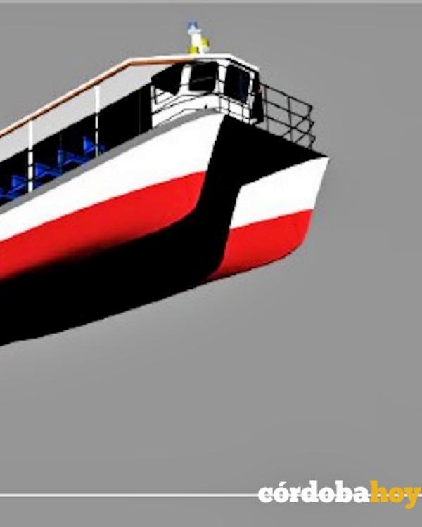Construyendo un barco solar que paseará viajeros río arriba en el Bembézar adentrándose en la sierra