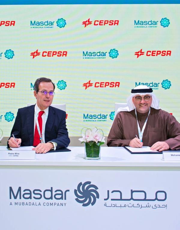 Cepsa y Masdar 'alianza' parar desarrollar proyectos de energías renovables en España y Portugal