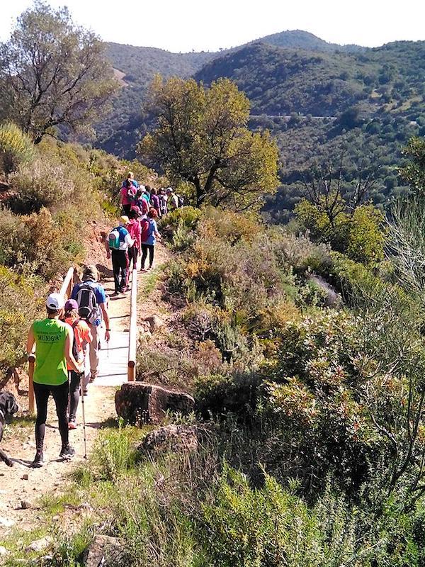 Ponen a punto la ruta senderista de Munigua en Villanueva del Río y Minas