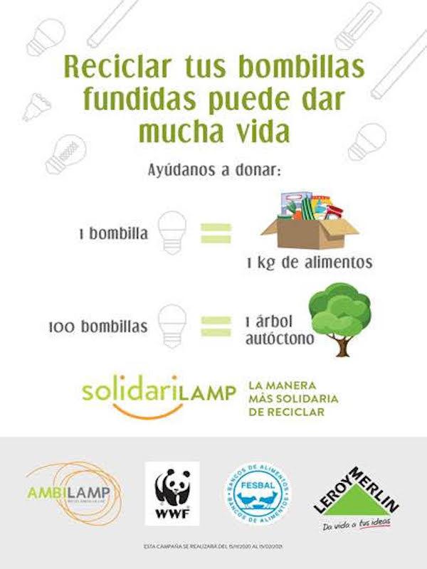 CAMPAÑA SOLIDARILAMP. Plantar árboles autoctonos y donarán más de 68.000 kilogramos de comida
