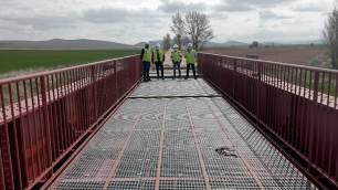 Acondicionados tres puentes del camino natural Santander-Mediterráneo entre Valcorba y Ciria (Soria)