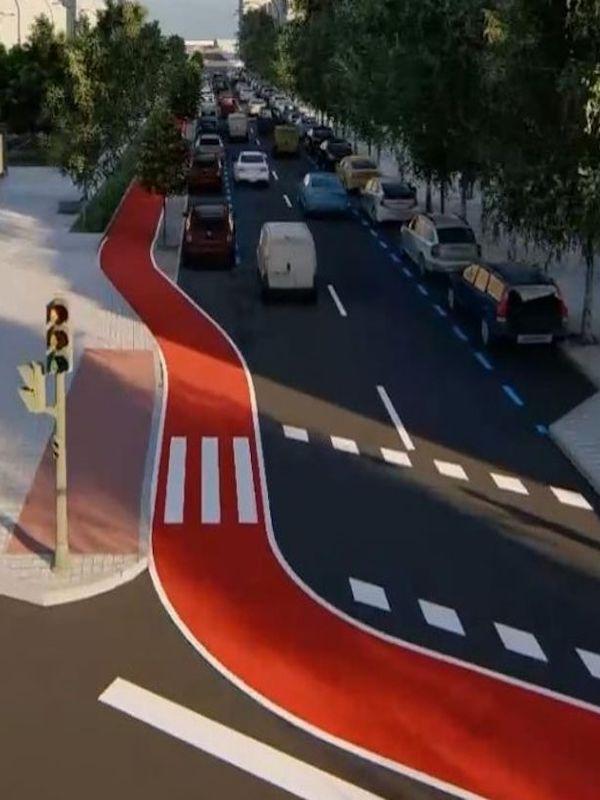 A final del año 2021 'arrancarán' las obras del carril bici de Castellana (Madrid)