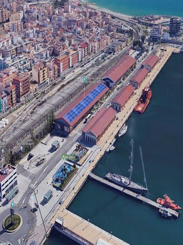 El Puerto Tarragona adjudica la instalación de 578 paneles fotovoltaicos que producirán 263 kWh, el 26% del consumo eléctrico del Muelle de Costa