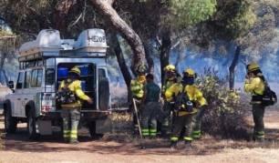 Extinguidos de madrugada los incendios forestales declarados en Aljaraque y Ayamonte (Huelva)