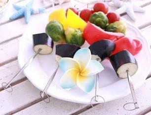 Brochetas vegetales para tu barbacoa de verano