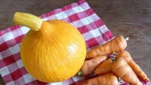 Mousse de calabaza, zanahoria y melocotones