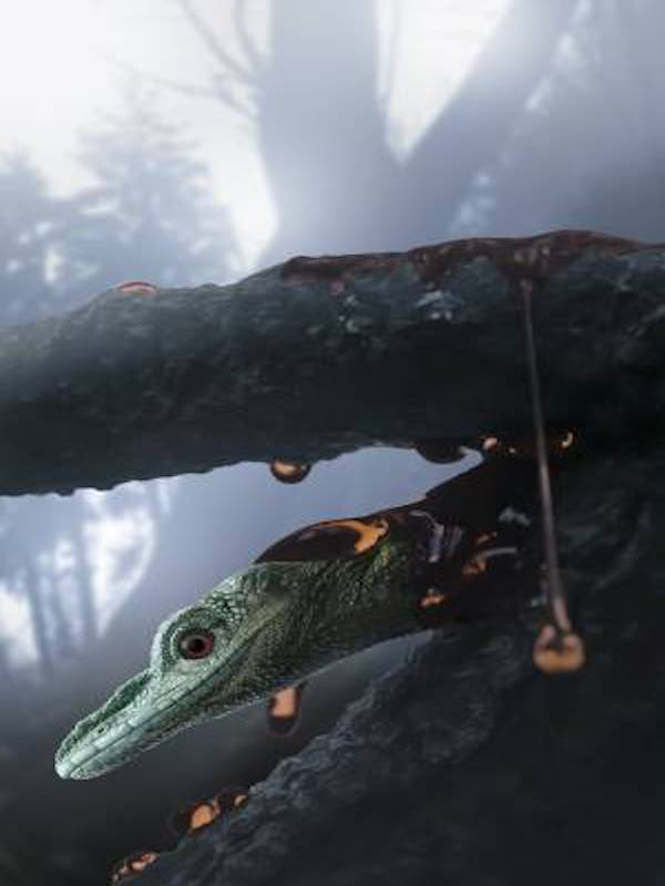 Han descubierto en ámbar un pequeño reptil del Cretácico