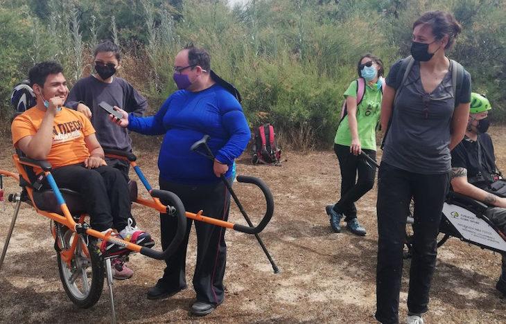 Ruta accesible e inclusiva dentro del proyecto Naturacces