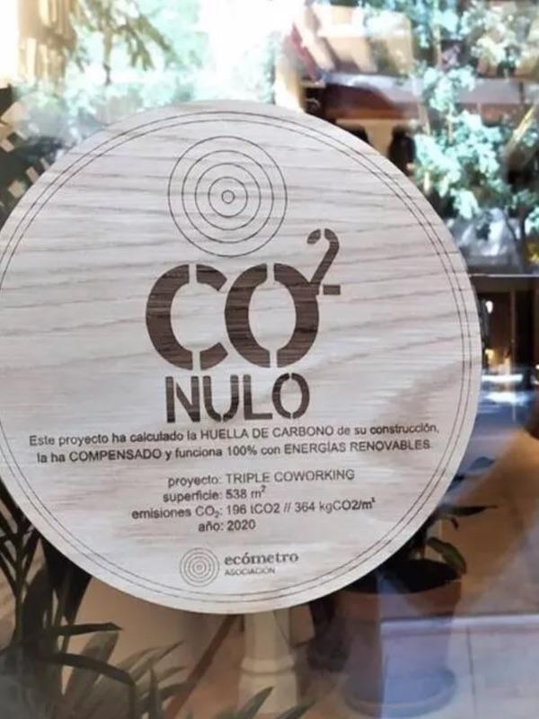 Ecómetro. Sello de certificación CO2Nulo para edificios