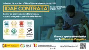 Convocatoria de empleos 'verdes' de IDAE