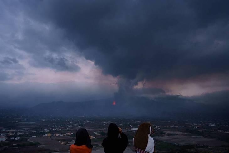 Los gases del volcán no afectarán la calidad del aire peninsular