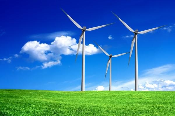 La energía eólica ahorra agua