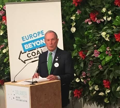 Michael Bloomberg dona 50 millones de dólares para el cese progresivo del carbón en Europa